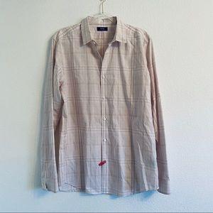 Theory Murray Plaid button down shirt XL